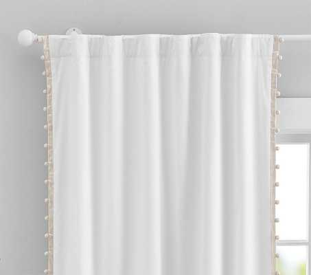 Cotton Pom Blackout Panel, 96 Inches, Gold, Set of 2 - Pottery Barn Kids