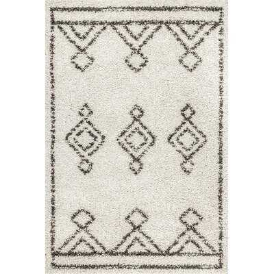 Standish Geometric Black/Off White Area Rug - Wayfair