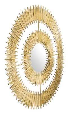 Zeus Round Mirror Gold - Zuri Studios