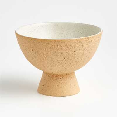 Dune Small Stone Pedestal Bowl - Crate and Barrel