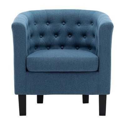"Alwillie 28.74"" W Tufted back Barrel Chair - Wayfair"