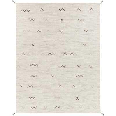 Armes Southwestern Handmade Flatweave Wool Ivory, Light Gray Area Rug - AllModern