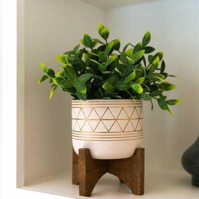 """4"""" Artificial Eucalyptus Plant in Planter - Wayfair"""