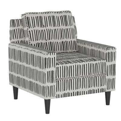 Parkview Chair in Dash Black White Oga - Third & Vine