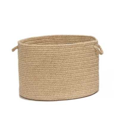 Natural Wool Basket, Light Beige, Large - West Elm