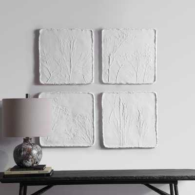 Angeline Floral Wall Decor, S/4 - Hudsonhill Foundry