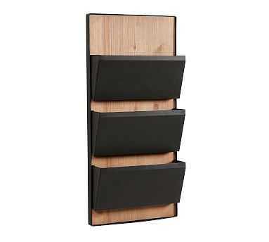 Trenton 3 Tiered Organizer, Rustic Wood - Pottery Barn