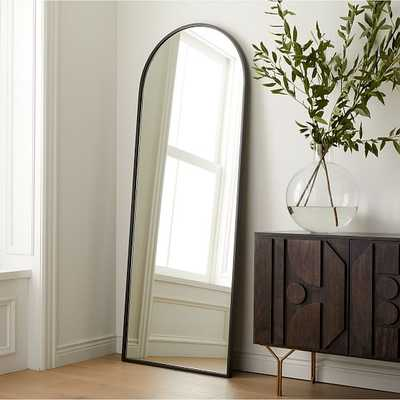 Metal Frame Arched Floor Mirror Antique Bronze - West Elm