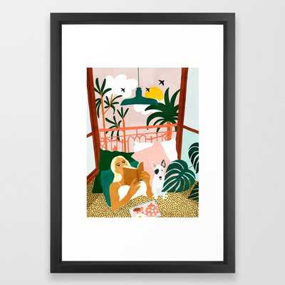 It Doesn't Matter Where You're Going, It's Who You Have Beside You #painting #illustration Framed Art Print by 83 Orangesa(r) Art Shop - Vector Black - SMALL-15x21 - Society6