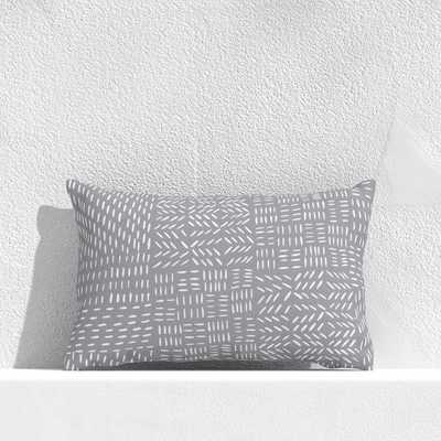 """Global Marks Grey 20""""x13"""" Outdoor Pillow - Crate and Barrel"""