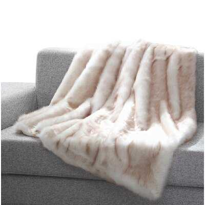 Thiele Luxury Tip Dye Faux Fur Throw - Birch Lane