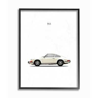 'Minimal Minimal Out 911 Car Poster' Graphic Art Print - AllModern