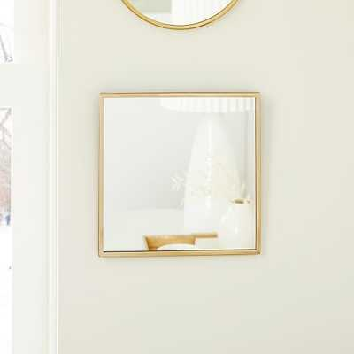 Zephyr Mirrors, Square, Antique Brass - West Elm