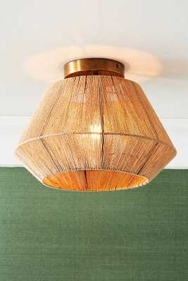 Jute Flush Mount By Anthropologie in Beige - Anthropologie