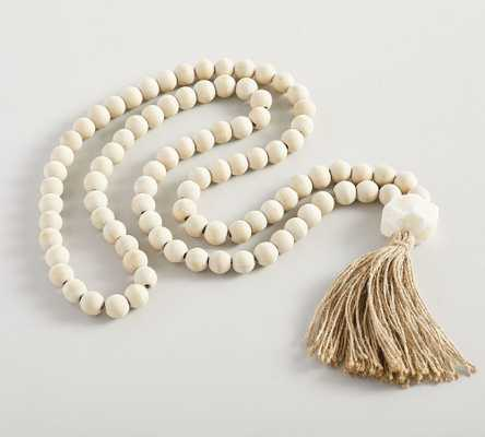 "Mango Wood Contentment Beads, 53.25""L - Pottery Barn"