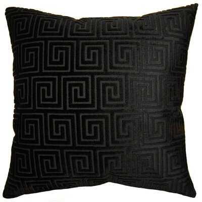 Noir Maze Feathers Geometric Throw Pillow - Wayfair