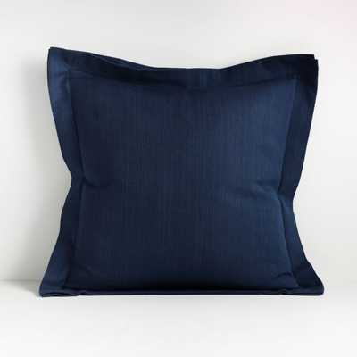 "Wallace Blue 20"" Flange Pillow - Crate and Barrel"