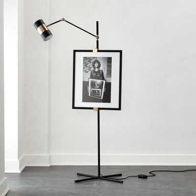 Art Easel Floor Lamp Black - CB2