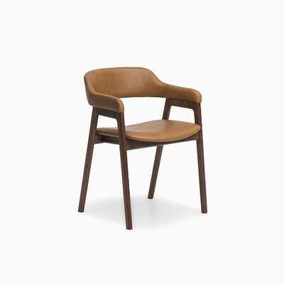 Abilene Chair Camel Leather Walnut - West Elm