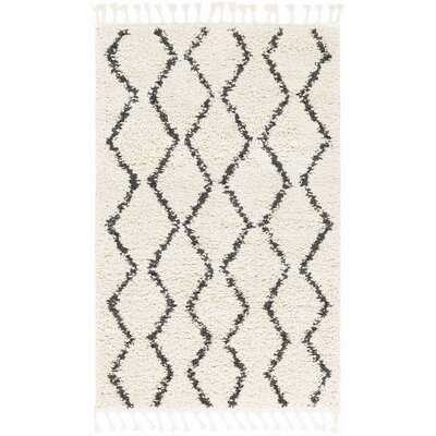 Margaret Geometric Charcoal/Beige Area Rug - Wayfair