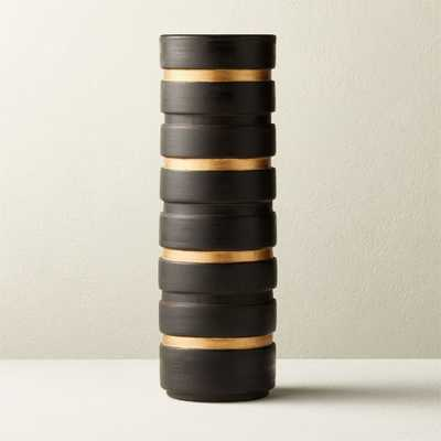 Turq Black and Gold Vase - CB2
