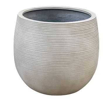 Jax Clay Planter, Cement - Large - Pottery Barn