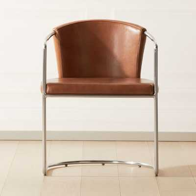 Cleo Saddle Cantilever Chair - CB2