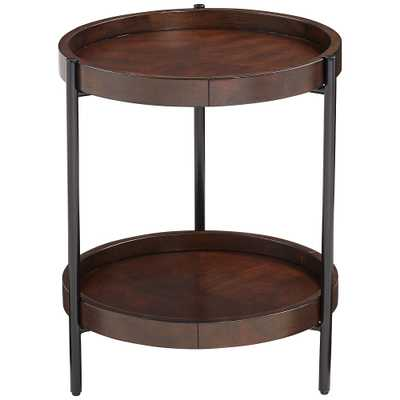 Taos Round Walnut Accent Table - Style # 78T58 (back in stock 1/24/21) - Lamps Plus