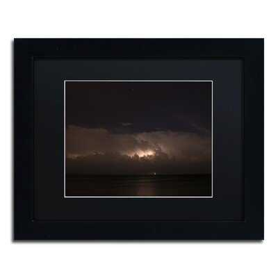 'Big Dipper Thunderstorm' Framed Photographic Print on Canvas - Wayfair