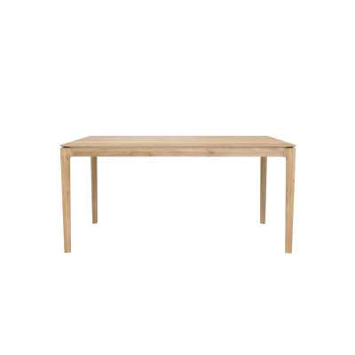 "Ethnicraft Bok Solid Wood Dining Table Color: Natural Oak, Size: 30"" H x 63"" L x 32"" W - Perigold"