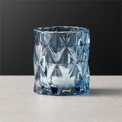 Betty Blue Tea Light Candle Holder - CB2