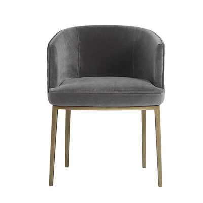 Cornella Upholstered Dining Chair Upholstery Color: Gray - Perigold