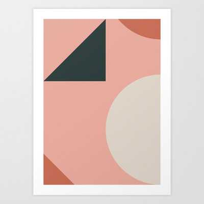 Orbit 02 Modern Geometric Art Print by The Old Art Studio - MEDIUM - Society6