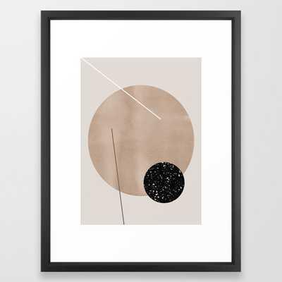 Minimalist Geometry 7y Framed Art Print by Mareike BaPhmer - Vector Black - MEDIUM (Gallery)-20x26 - Society6