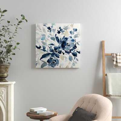 'Indigo Garden I' - Painting Print - Birch Lane