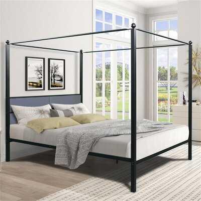Metal Queen Size Canopy Bed Frame - Wayfair