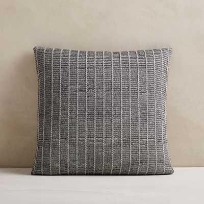 "Ladder Stripe Jacquard Pillow Cover, 20""x20"", Midnight - West Elm"