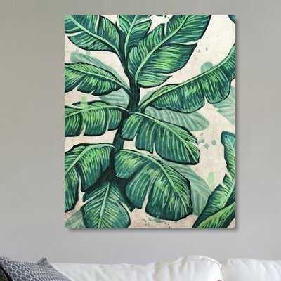 'Banana Leaves' Print on Canvas - AllModern