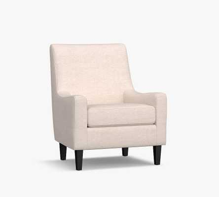 SoMa Isaac Upholstered Armchair, Polyester Wrapped Cushions, Performance Boucle Oatmeal - Pottery Barn