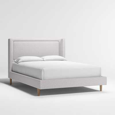 Weston Full Grey Upholstered Bed - Crate and Barrel