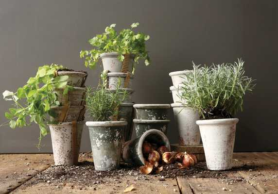 Large Heavily Distressed Clay Pots (Set of 4 Colors) - Nomad Home