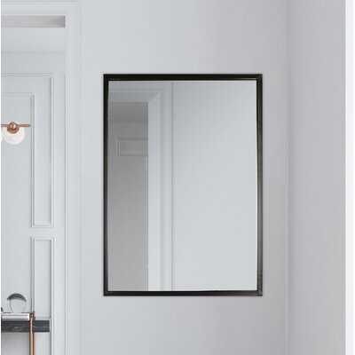 "35""X24"" Framed Vanity Wall Mirror Black Rectangle Hanging Modern Industrial Large Long Metal Mirrors For Bathroom Entryway - Wayfair"