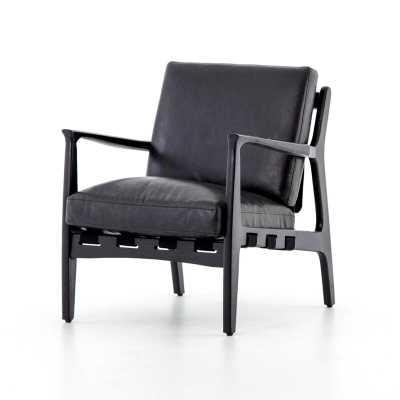 Silas Armchair Upholstery Color: Black, Leg Color: Black - Perigold