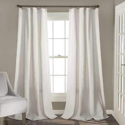 Barstow Solid Semi-Sheer Rod Pocket Curtain Panels - Birch Lane