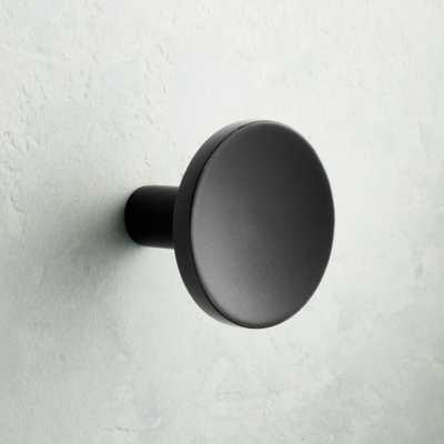 Circle Matte Black Knob - CB2