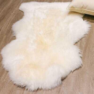 Nithsdale Handmade Sheepskin Ivory Area Rug - Wayfair