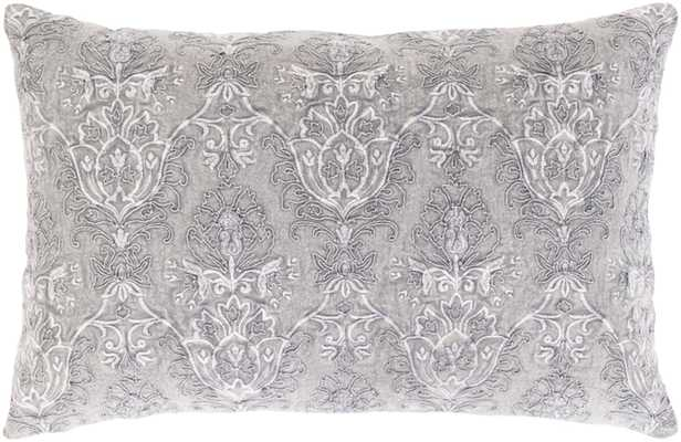 "Savanna Lumbar Pillow Cover, 13""x 20"", Gray - Roam Common"