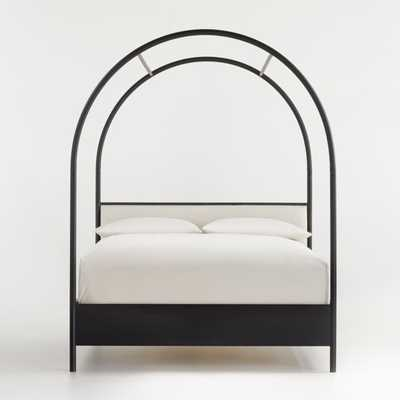 Canyon Queen Arched Canopy Bed with Upholstered Headboard - Crate and Barrel