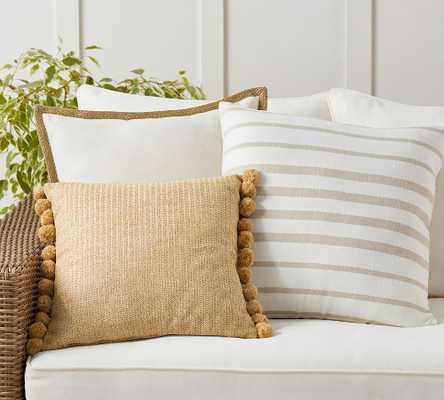 Cozy Contrast Natural Indoor/Outdoor Pillow Set - Pottery Barn