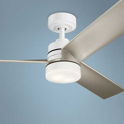 "52"" Kichler Spyn White and Silver LED Ceiling Fan - Style # 65F00 - Lamps Plus"